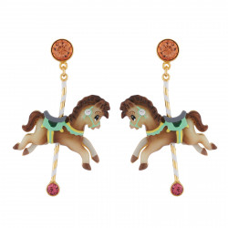 Carousel Small Horse Earrings