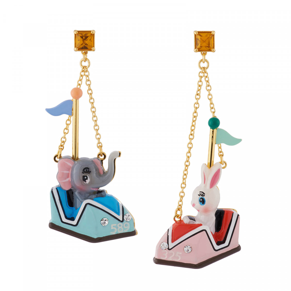 Boucles D'oreilles Boucles D'oreilles Petit Éléphant Et Lapin Tout Contents Dans Leurs Auto-tamponneuses70,00€ AHJL117T/1N2 ...