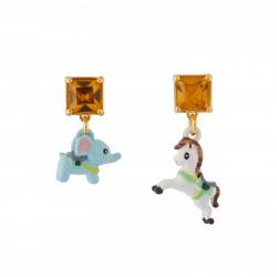 Boucles D'oreilles Boucles D'oreilles Minis Éléphant Et Cheval De Carrousel35,00€ AHJL123T/1N2 by Les Néréides