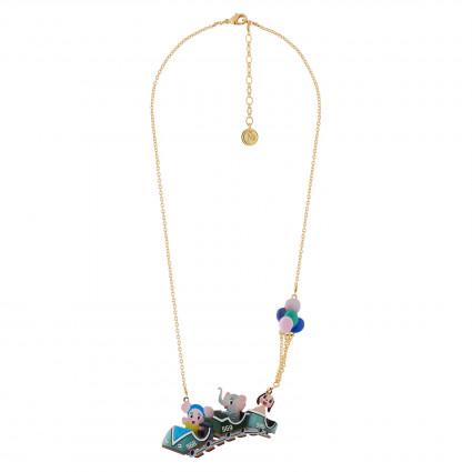 Bouton de Rose Earrings : Blue flowers and pendants