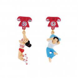 Boucles D'oreilles Boucles D'oreilles Clip Papotages Téléphonique55,00€ AICS106C/1N2 by Les Néréides