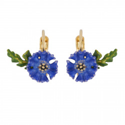 Cornflower Dormeuses Earrings