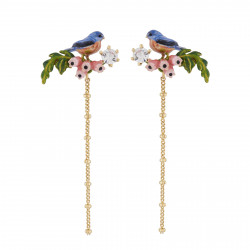 Earrings Chickadee On A...