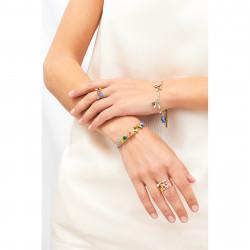 Bracelets Charms Bracelet Mésange, Lapin Et Petites Fleurs