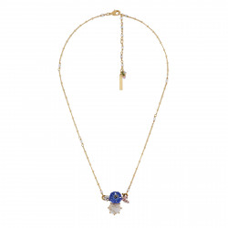 Cornflower And Stone Necklace