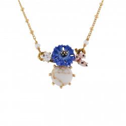 Colliers Pendentifs Collier Bleuet Et Pierre