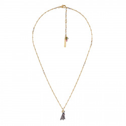 Colliers Pendentifs Collier Lapin Gris