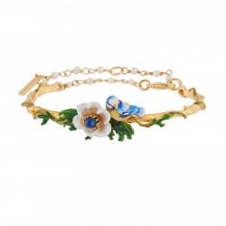 Bracelets Jonc Bracelet Jonc Mésange Et Fleur Blanche Sur Feuilles135,00€ AIPM201/1Les Néréides