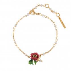 Bracelets Fins Bracelet Fleur Rouge90,00€ AIPM202/1Les Néréides