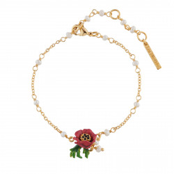 Bracelets Fins Bracelet Fleur Rouge
