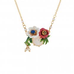 Colliers Pendentifs Collier Fleurs Rouges Et Blanches Et Verre Taillé100,00€ AIPM302/1Les Néréides