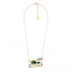 Brass Necklace Let's Go...