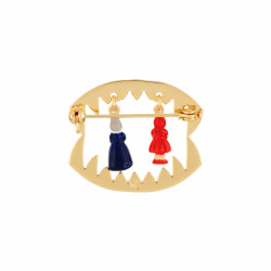 Accessoires Broche Petit Chaperon Rouge Et Grand-mère Dans La Gueule Du Loup45,00€ AECR404/1N2 by Les Néréides