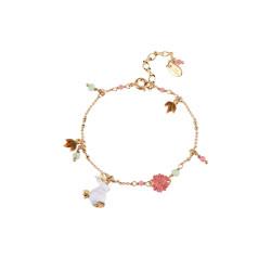 Bracelets Fins Bracelet Fin Multi Pampilles Lapin Et Feuilles