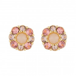 Flower And Pink Rhinestone...