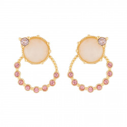 Stud Earrings With Ring And...