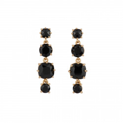 4 Black Stones Earrings