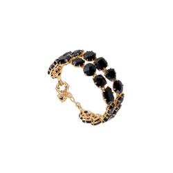 Bracelets Charms Bracelet Luxe Deux Rangs Noire