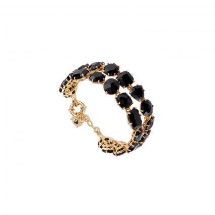 Bracelets Charms Bracelet Luxe Deux Rangs Noire250,00€ ACLD216/2Les Néréides
