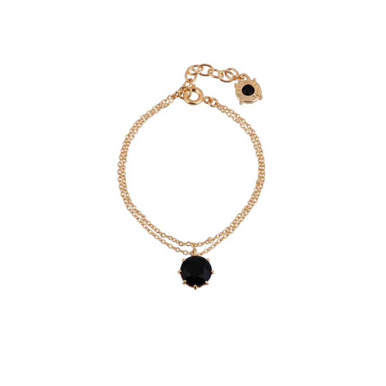 Bracelets Fins Bracelet Multichaînes Pierre Ronde Noire