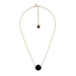Black Round Stone Necklace
