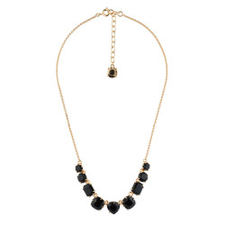 9 Black Stones Necklace