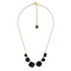 6 Black Stones Necklace