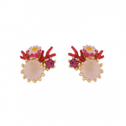 Earrings With Small Pink...