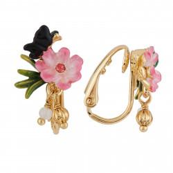 Boucles D'oreilles Clip Boucles D'oreilles Clip Petite Fleur Rose, Papillon Et Pampilles60,00€ AGHI108C/1Les Néréides