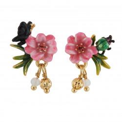 Boucles D'oreilles Tiges Boucles D'oreilles Tige Petite Fleur Rose, Papillon Et Pampilles60,00€ AGHI108T/1Les Néréides