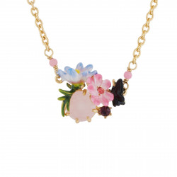 Necklace With Faceted Glass...