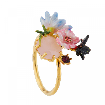 Bagues Ajustables Bague Ajustable Petites Fleurs, Papillon Et Verre Taillé95,00€ AGHI605/1Les Néréides
