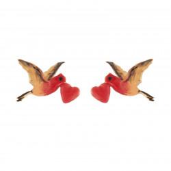 Flying Heart Stud Earrings