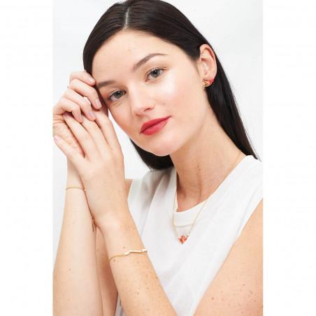 Bracelet Cristaux de Fleurs: Cristal de Roche et Frésia symoblisant l'énergie