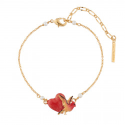 Heart And Bird Chain Bracelet