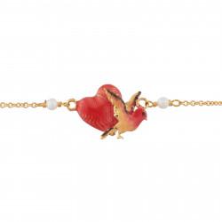 Bracelets Fins Bracelet À Chaine Coeur Et Oiseau