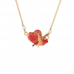 Collar Corazón Sobre Pájaro...