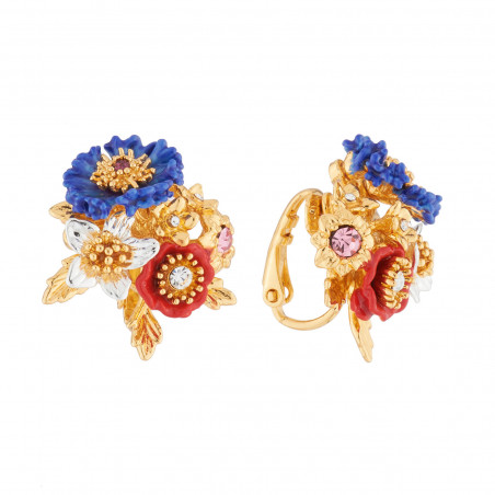 Small Cristaux de Fleurs ring: Aragonite and Gerbera representing health