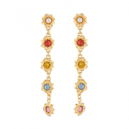 Pas de Deux earrings with ballerinas and crown