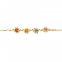 Bracelets Fins Bracelet Fin Fleurs Et Pierrres Multicolores