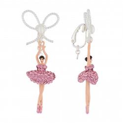 Boucles D'oreilles Clip Boucles D'oreilles Clip Ballerine Strass Rose Et Perle110,00€ AJDDL108C/2Les Néréides