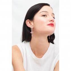 Boucles D'oreilles Pendantes Boucles D'oreilles Tige Ballerine Strass Rose Et Perle110,00€ AJDDL108T/2Les Néréides