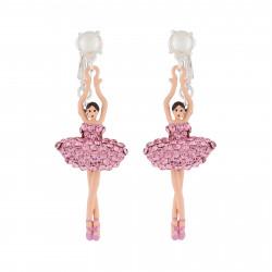 Boucles D'oreilles Clip Boucles D'oreilles Clip Ballerine Strass Rose