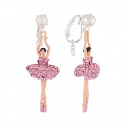 Boucles D'oreilles Clip Boucles D'oreilles Clip Ballerine Strass Rose110,00€ AJDDL115C/2Les Néréides