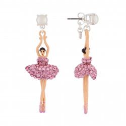 Boucles D'oreilles Pendantes Boucles D'oreilles Tige Ballerine Strass Rose110,00€ AJDDL115T/2Les Néréides