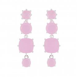 Boucles D'oreilles Pendantes Boucles D'oreilles Pendantes Tige La Diamantine 4 Pierres Rose80,00€ AJLD120T/2Les Néréides
