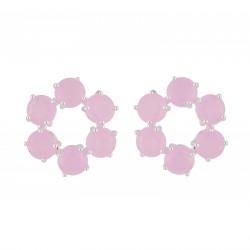 Boucles D'oreilles Creoles Boucles D'oreilles Petites Créoles Tige 6 Pierres La Diamantine80,00€ AJLD142T/2Les Néréides