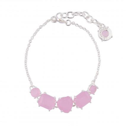 Bracelets Fins Bracelet Fins 5 Pierres Rose La Diamantine