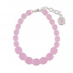 Bracelets Fins Bracelet Fin Luxe 1 Rang De Pierres Rose La Diamantine