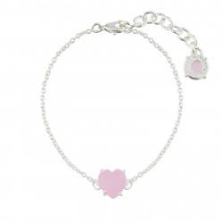 Bracelets Fins Bracelet Fin 1 Pierre Cœur Rose La Diamantine